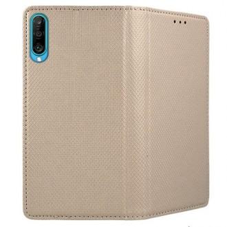 """Auksinės spalvos atverčiamas dėklas Huawei P Smart Pro 2019 / Honor Y9s telefonui """"Smart Magnet"""""""