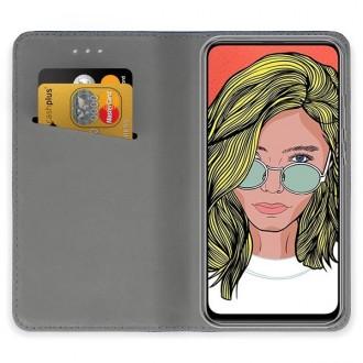 """Auksinės spalvos atverčiamas dėklas Huawei P Smart Z telefonui """"Smart Magnet"""""""