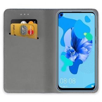 """Auksinės spalvos atverčiamas dėklas Huawei P20 Lite 2019 telefonui """"Smart Magnet"""""""