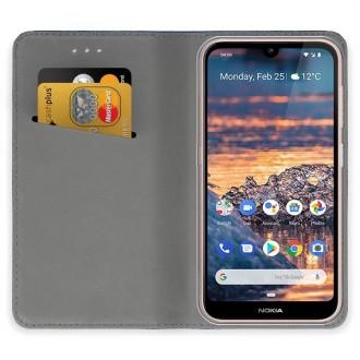 """Auksinės spalvos atverčiamas dėklas Nokia 4.2 telefonui """"Smart Magnet"""""""