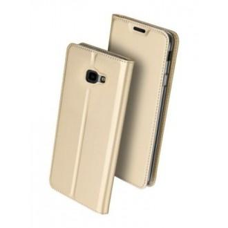"""Auksinės spalvos atverčiamas dėklas Samsun J4 2018 telefonui """"Dux Ducis Skin"""""""