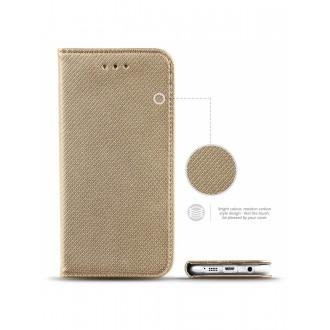 """Auksinės spalvos atverčiamas dėklas Samsung Galaxy (A310F) A3 2016 telefonui """"Smart Book Magnet"""""""