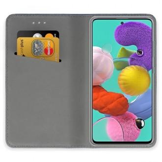 """Auksinės spalvos atverčiamas dėklas """"Smart Magnet"""" telefonui Samsung A51 5G"""