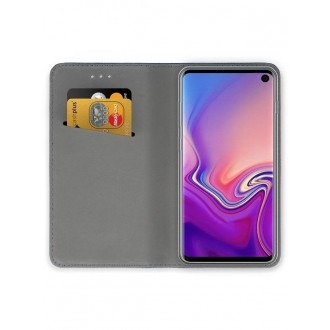 """Auksinės spalvos atverčiamas dėklas Samsung Galaxy G970 S10e telefonui """"Smart Magnet"""""""