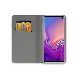 """Auksinės spalvos atverčiamas dėklas Samsung Galaxy G973 S10 telefonui """"Smart Magnet"""""""