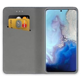 """Auksinės spalvos atverčiamas dėklas Samsung Galaxy S20 telefonui """"Smart Magnet"""""""