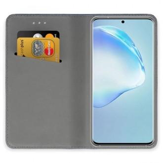 """Auksinės spalvos atverčiamas dėklas Samsung Galaxy S20 Ultra telefonui """"Smart Magnet"""""""