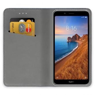 """Auksinės spalvos atverčiamas dėklas Xiaomi Redmi 7A telefonui """"Smart Magnet"""""""
