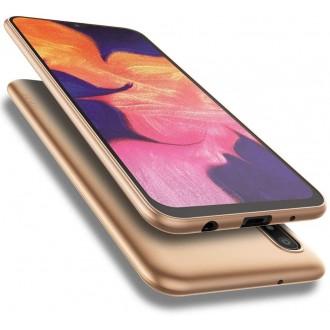 Auksinės spalvos dėklas X-Level Guardian Samsung Galaxy A105 A10 telefonui
