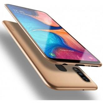 Auksinės spalvos dėklas X-Level Guardian Samsung Galaxy A202 A20e telefonui