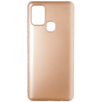 Auksinės spalvos dėklas X-Level Guardian Samsung Galaxy A217 A21s telefonui