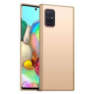 Auksinės spalvos dėklas X-Level Guardian Samsung Galaxy A715 A71 telefonui