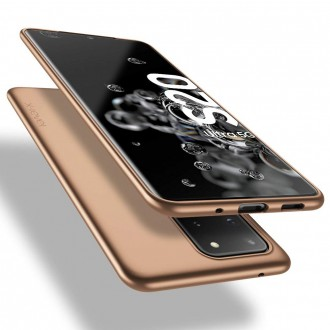 Auksinės spalvos dėklas X-Level Guardian Samsung Galaxy G988 S20 Ultra telefonui