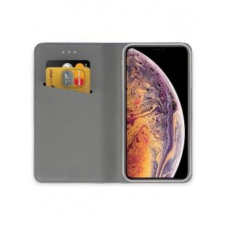 """Auksinis atverčiamas dėklas Apple iPhone XS Max telefonui """"Smart Magnet"""""""