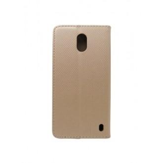 """Auksinis atverčiamas """"Smart Magnet"""" dėklas telefonui Nokia 2.4"""