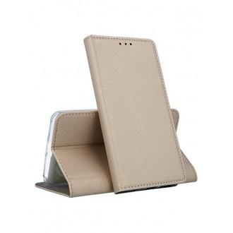 """Auksinis atverčiamas dėklas Nokia 6.1 / 6 2018 telefonui """"Smart Magnet"""""""