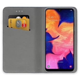 """Auksinis atverčiamas dėklas Samsung Galaxy A105 A10 telefonui """"Magnetic book"""""""