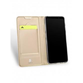 """Auksinis atverčiamas dėklas Samsung Galaxy A6 2018 telefonui """"Dux Ducis Skin"""""""
