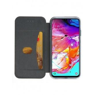 """Auksinis atverčiamas dėklas Samsung Galaxy A705 A70 telefonui """"Book Elegance"""""""