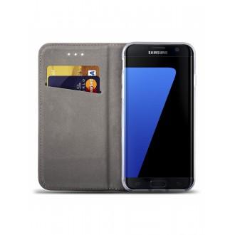 """Auksinis atverčiamas dėklas Samsung Galaxy G925 S6 Edge telefonui """"Smart Magnet"""""""