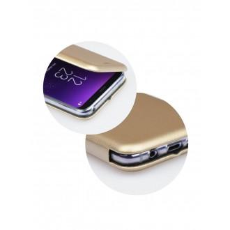 """Auksinis atverčiamas dėklas Samsung Galaxy G930 S7 telefonui """"Book Elegance"""""""
