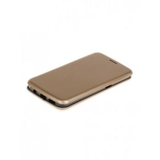 """Auksinis atverčiamas dėklas Samsung Galaxy G935 S7 Edge telefonui """"Book Elegance"""""""