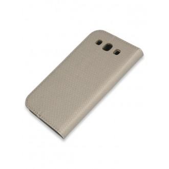 """Auksinis atverčiamas dėklas Samsung Galaxy i9300 S3 / i9301 S3 Neo / i9300i  telefonui """"Smart Book Magnet"""""""