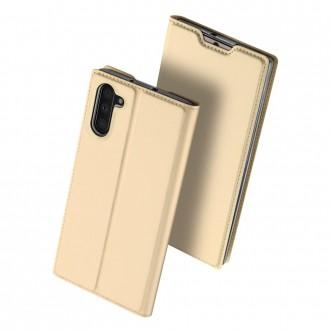 """Auksinis atverčiamas dėklas Samsung Galaxy N970 Note 10 telefonui """"Dux Ducis Skin"""""""