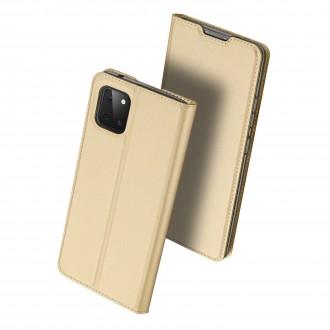 """Auksinis atverčiamas dėklas Samsung Galaxy Note 10 Lite / A81 telefonui """"Dux Ducis Skin"""""""