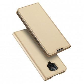 """Auksinis atverčiamas dėklas Xiaomi Redmi Note 9s / 9 Pro / 9 Pro Max telefonui """"Dux Ducis Skin"""""""