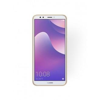 "Auksinis blizgantis silikoninis dėklas Huawei Y7 2018 / Y7 Prime 2018 telefonui ""Shining"""