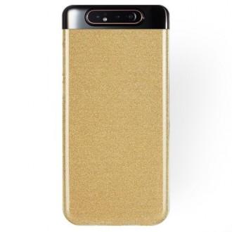 """Auksinis blizgantis silikoninis dėklas Samsung Galaxy A805 A80 telefonui """"Shining"""""""