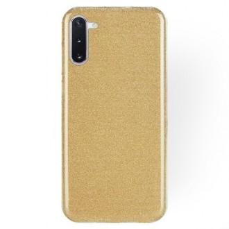 """Auksinis blizgantis silikoninis dėklas Samsung Galaxy Note 10 telefonui """"Shining"""""""