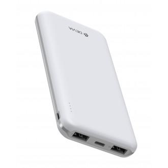 Balta išorinė baterija Power Bank Devia Guardian 10000mAh
