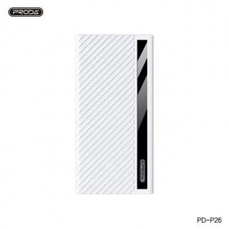 Balta išorinė baterija Power Bank Proda PD-P26 20000mAh