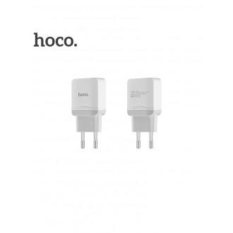 Baltas buitinis įkroviklis HOCO C22A (2.4A)