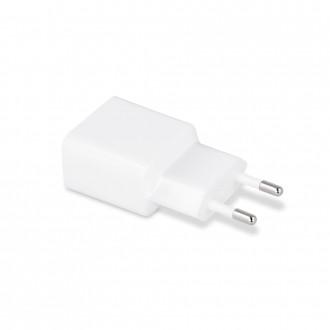 Baltas buitinis Įkroviklis Maxlife MXTC-01 FastCharging USB + Type-C (2.1A)