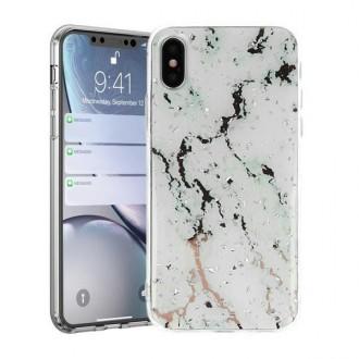 """Baltas dėklas """"Marble"""" Samsung Galaxy A31 telefonui"""