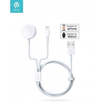 Baltas įkroviklis belaidis Devia 2in1 Smart Phone, Apple Watch