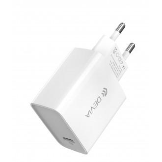 "Baltas įkroviklis buitinis Devia Smart PD Quick Charge + MFI Type-C-""Lightning"""