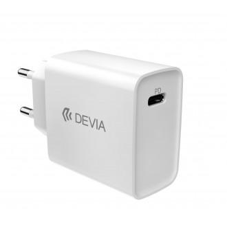 Baltas įkroviklis buitinis Devia Smart PD Quick Charge