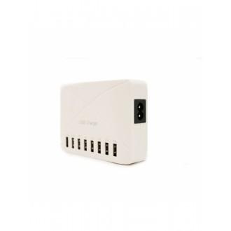 """Baltas įkroviklis buitinis su 8 USB jungtimis """"Multicharger XU800"""" (8A)"""