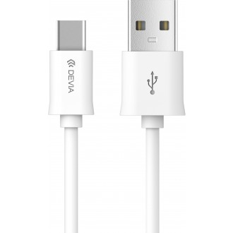 Baltas USB kabelis Devia Smart Type-C 2m