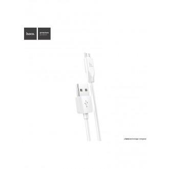 Baltas USB kabelis HOCO X1 microUSB 1m