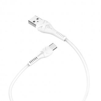 """Baltas USB kabelis HOCO X37 Cool Power """"Type-C"""" 1m"""