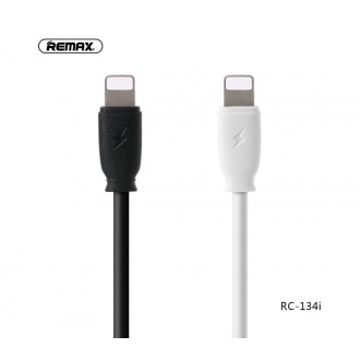 Baltas USB kabelis Remax RC-134i Lightning 2.1A 1.0m