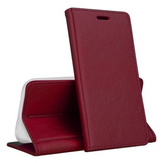 """Bordo spalvos atverčiamas dėklas """"Magnetic book"""" telefonui Huawei P40 Lite E"""