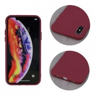 """Bordo, matinis silikoninis dėklas, skirtas """"Samsung A52"""