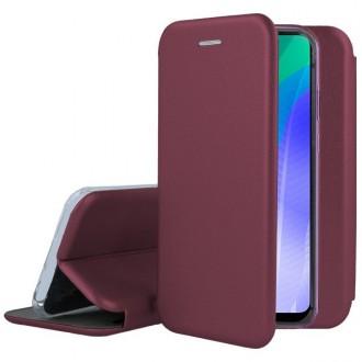 """Bordo spalvos atverčiamas dėklas Huawei P40 Lite E / Y7 P telefonui """"Book Elegance"""""""