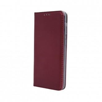 """Bordo spalvos atverčiamas dėklas Samsung Galaxy A715 A71 telefonui """"Magnetic book"""""""